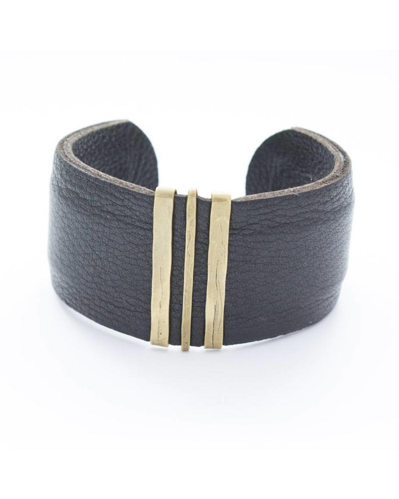 CLP CLP Wide Leather Cuff
