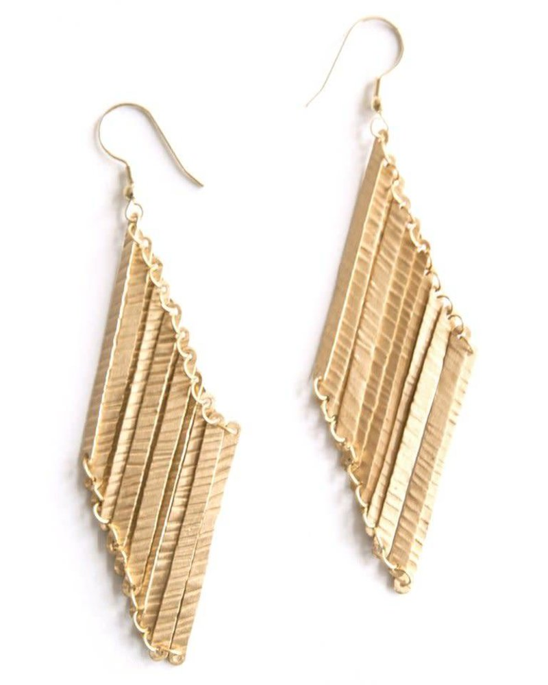 Mata Traders Mata T Layered Lines Earrings