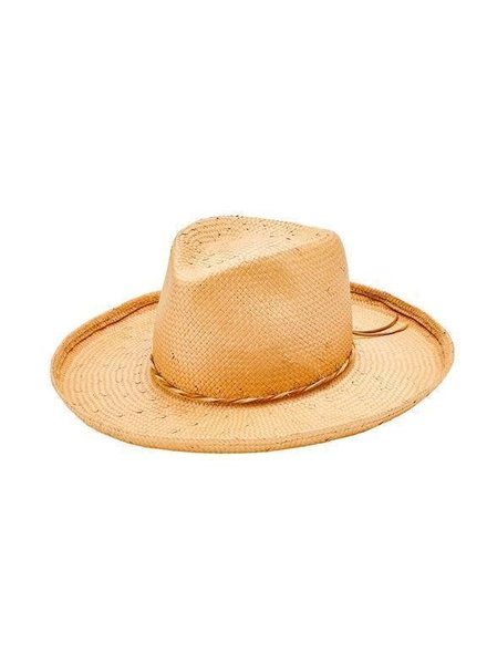 San Diego Hat Co SDH Paper Straw Fedora Faux Leather