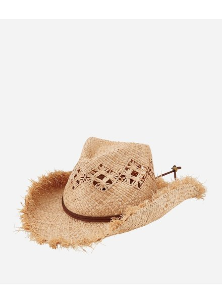 San Diego Hat Co Raffia Cut Cowboy