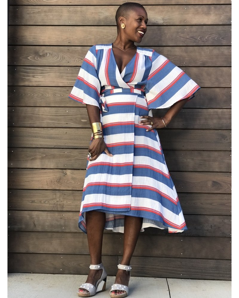 2924f023595 Traffic People Mykonos Wrap Dress - Squash Blossom Boutique