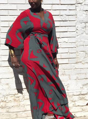 Bel Kazan BKazan Iris Kimono Dress