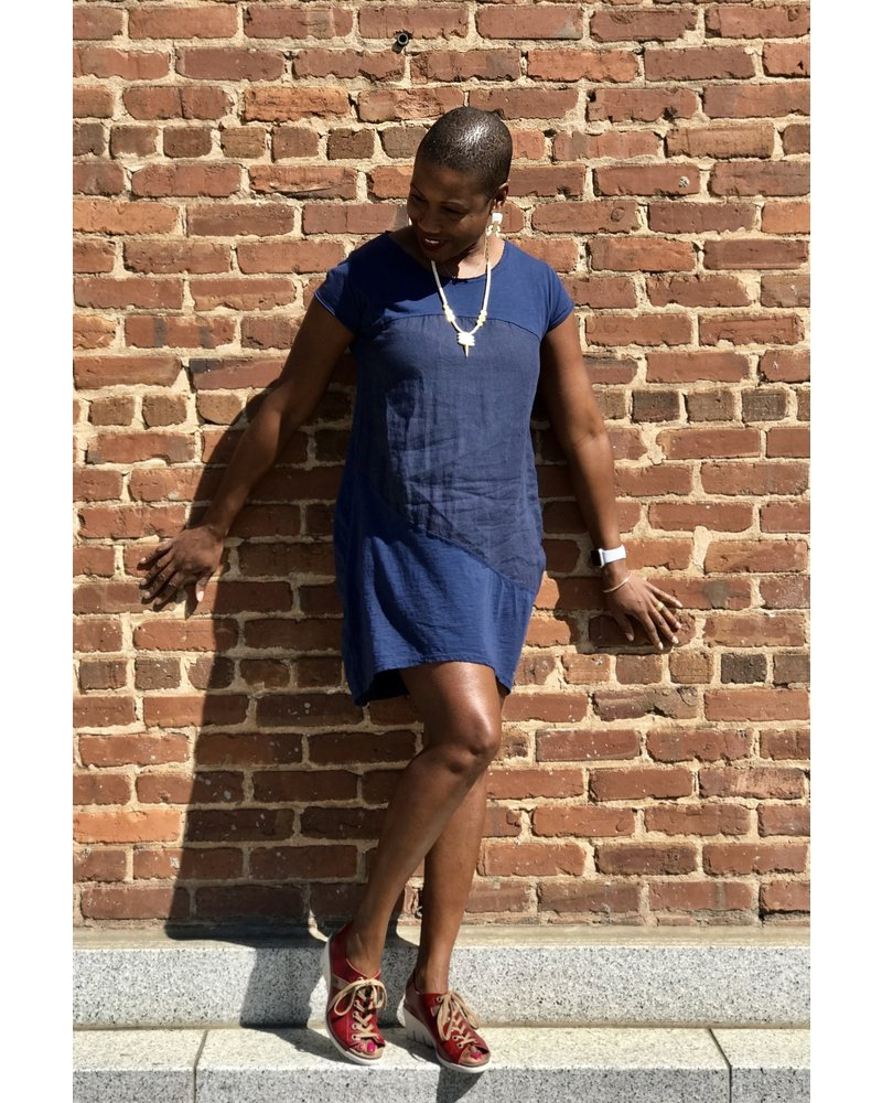 Saga Saga Cap Sleeve Linen Dress