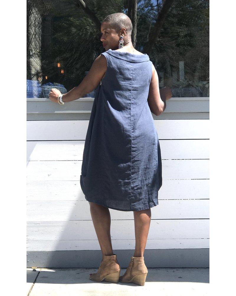 Yuvita Yuvita Cowl Sleeveless Dress