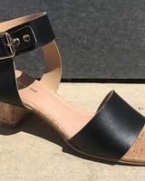 All Black AllBlk Metal & Cork Sandal