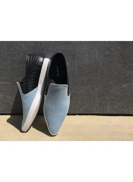 All Black AllBlack Croc Toe Heel Mix Sneaker