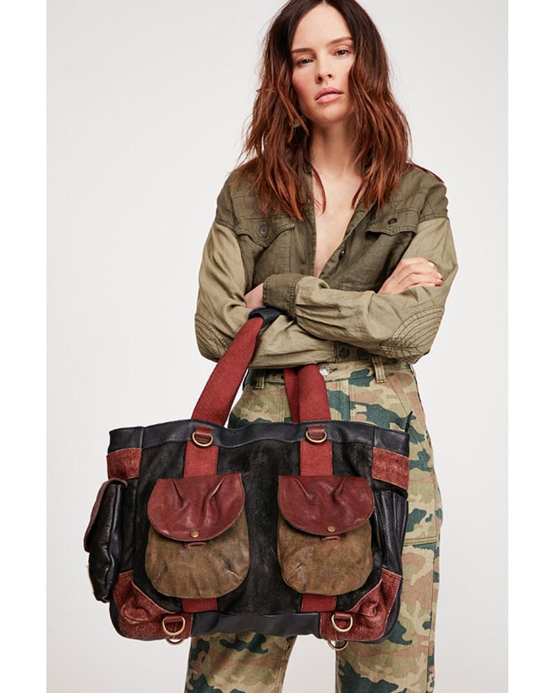 17d7614d25 Free People WTF Distressed Tote Backpack - Squash Blossom Boutique