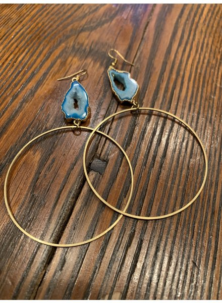 Boho Gal Jewelry BohoGal Druzy Hoop Earrings