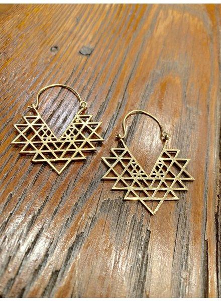Boho Gal Jewelry TriGeo Earrings