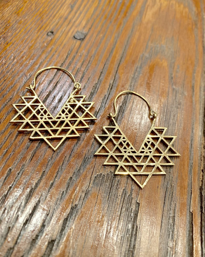 Boho Gal Jewelry Boho Gal TriGeo Earrings