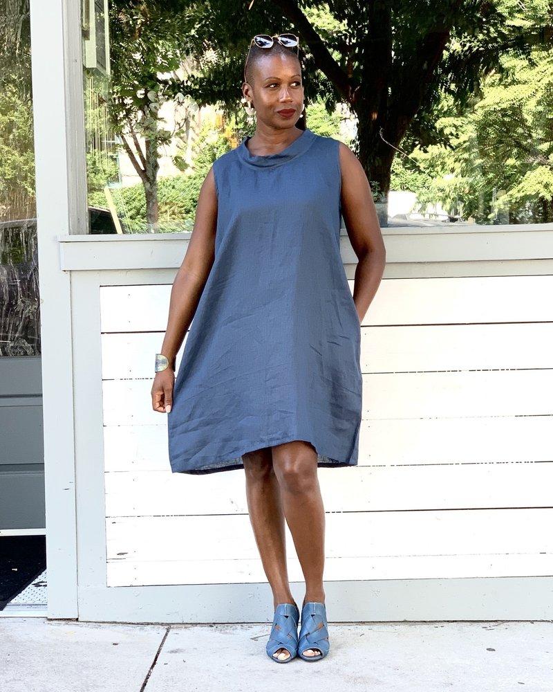 Just Jill Just Jill Bias Collar Tunic Dress
