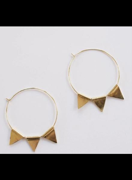 Mata Traders Abaco Hoop Earrings