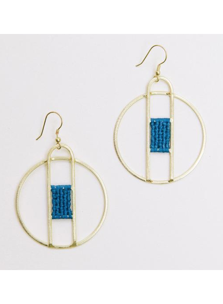 Mata Traders Mata Amalfi Blue Earrings