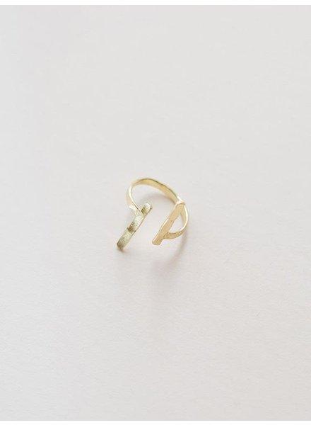 Mata Traders Hammered Couplet Ring