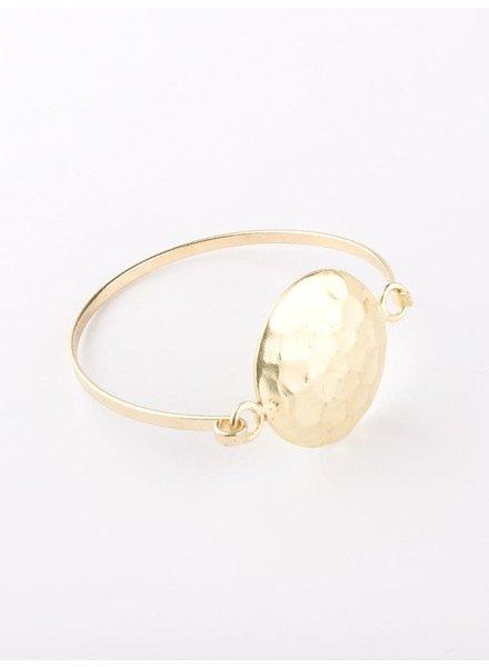 Mata Traders Hammered Disc Bracelet