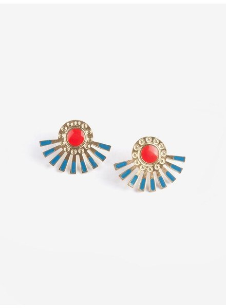 Mata Traders Mata Helios Studs Earrings