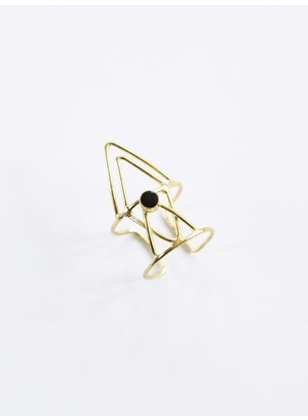 Mata Traders Mata Hex Triangle Ring