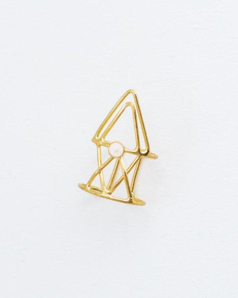 Mata Traders Mata Hex Triangle Ring