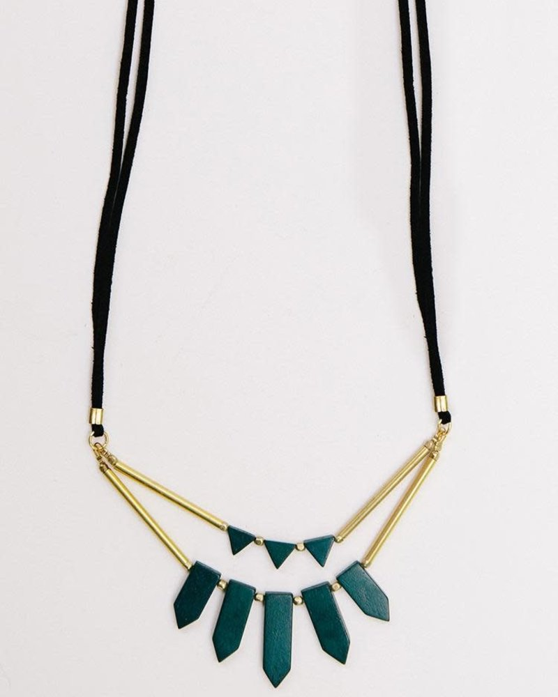 Mata Traders Mata Ishaana Green Necklace