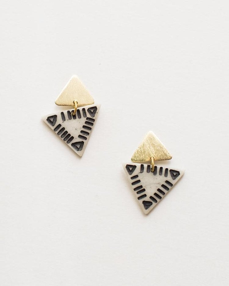 Mata Traders Mata Traders Oblique Triangle Earrings