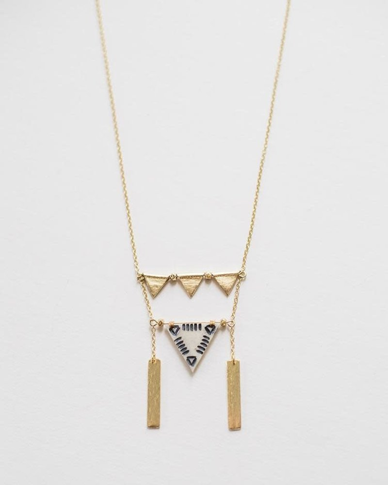 Mata Traders Mata Traders Triangles Necklace