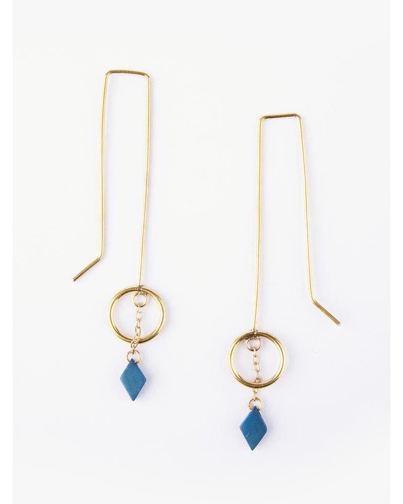Mata Traders Mata Saraswati Gold Earrings