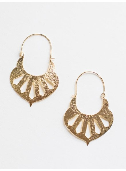 Mata Traders Mata Sparta Earrings Gold