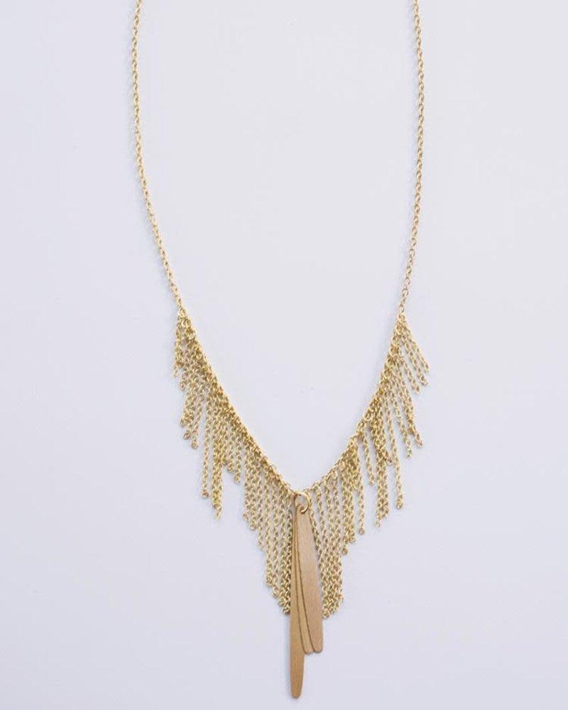 Mata Traders Mata Traders Willow Gold Necklace