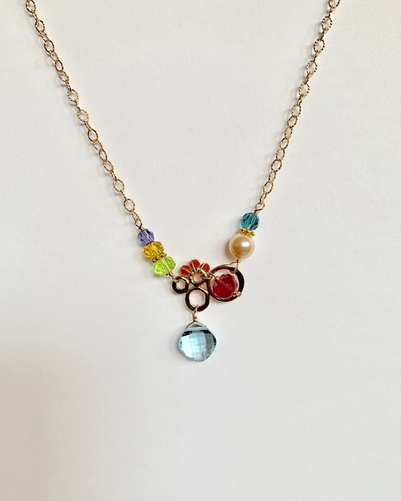 Anna Balkan Jewelry Anna Balkan Small Bubbles with Diamond Gem Necklace