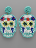GS Skull Bead Earrings