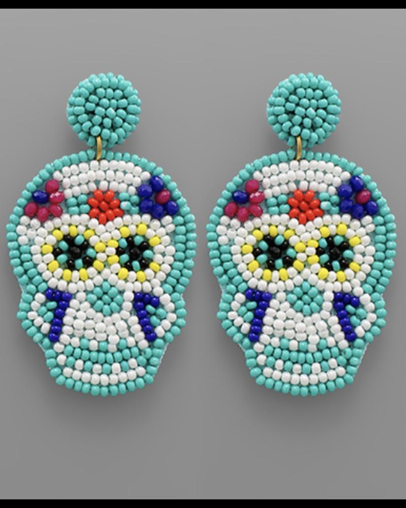 GS Skull Bead Earrings