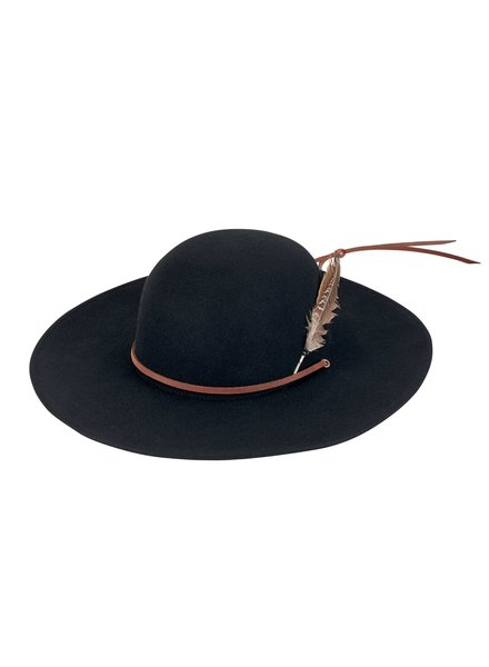 San Diego Hat Co SDH Mens Wool Felt Feather Wide Brim Hat