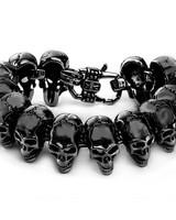 West Coast Jewelry WCJ Polished Skull Link Bracelet