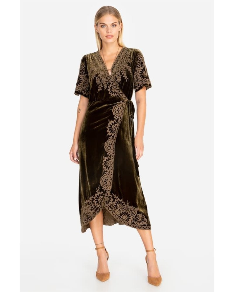 Johnny Was Jwas Mina Velvet Wrap Dress