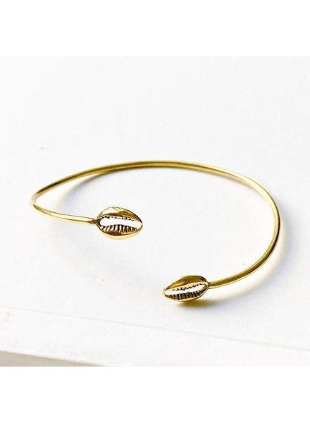 Boho Gal Jewelry BohoGal Double Cowrie Bracelet