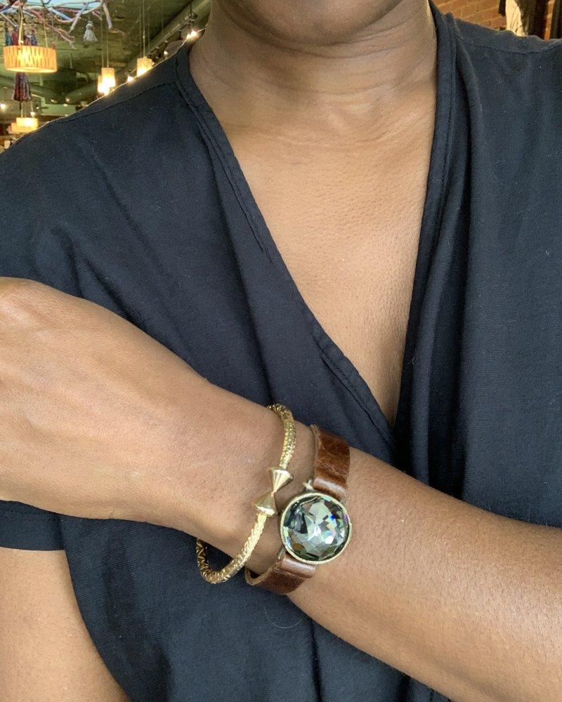 Rebel Designs Rebel Design Single Crystal Bracelet