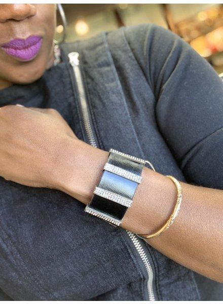 Rebel Designs Stripe Bling Bracelet