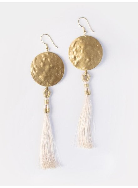 Mata Traders La Luz Earrings Gold