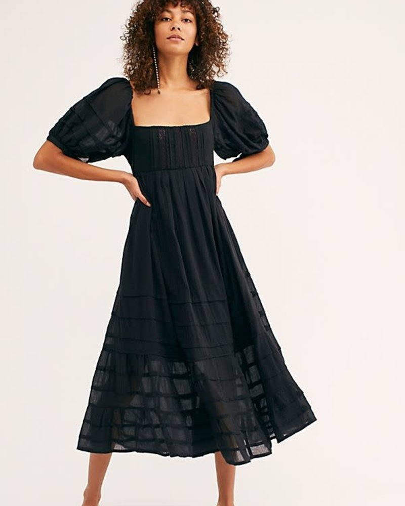 Free People Free People Let's Be Friends Midi Dress