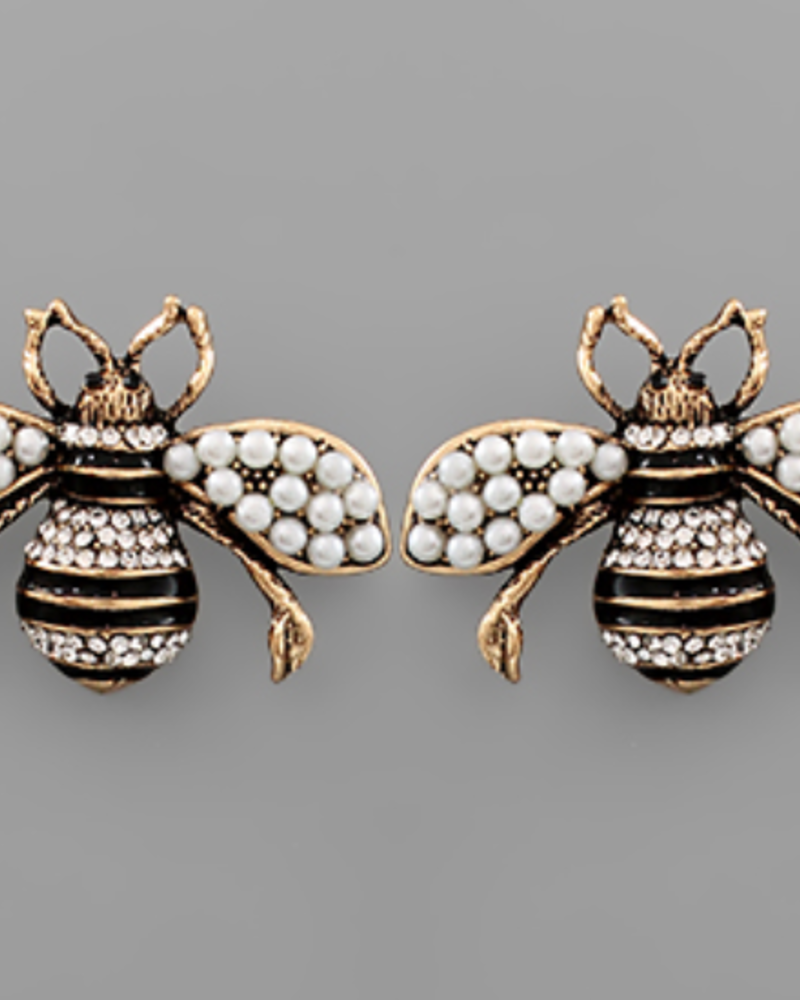 GS Crystal Bee Earrings