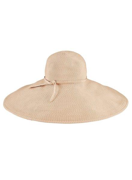 San Diego Hat Co SDH Wide Ribbon Floppy Ticking Hat
