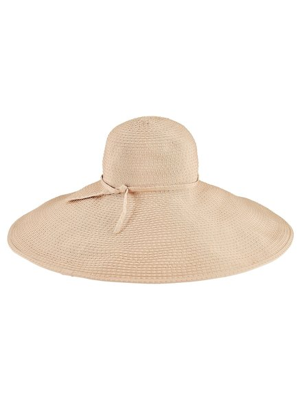 San Diego Hat Co Wide Ribbon Floppy Ticking Hat