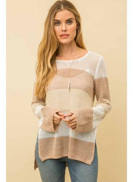 Mystree Mystree Crochet Knit Sweater