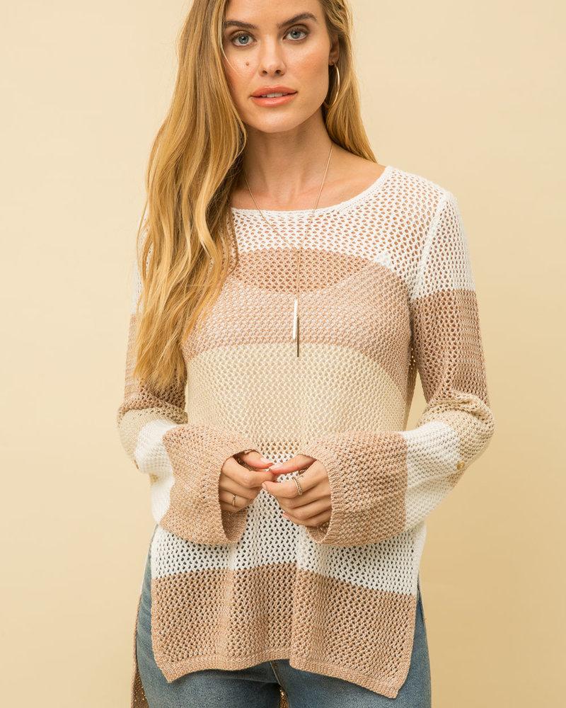 Mystree Mystree Crochet Knit Sweater