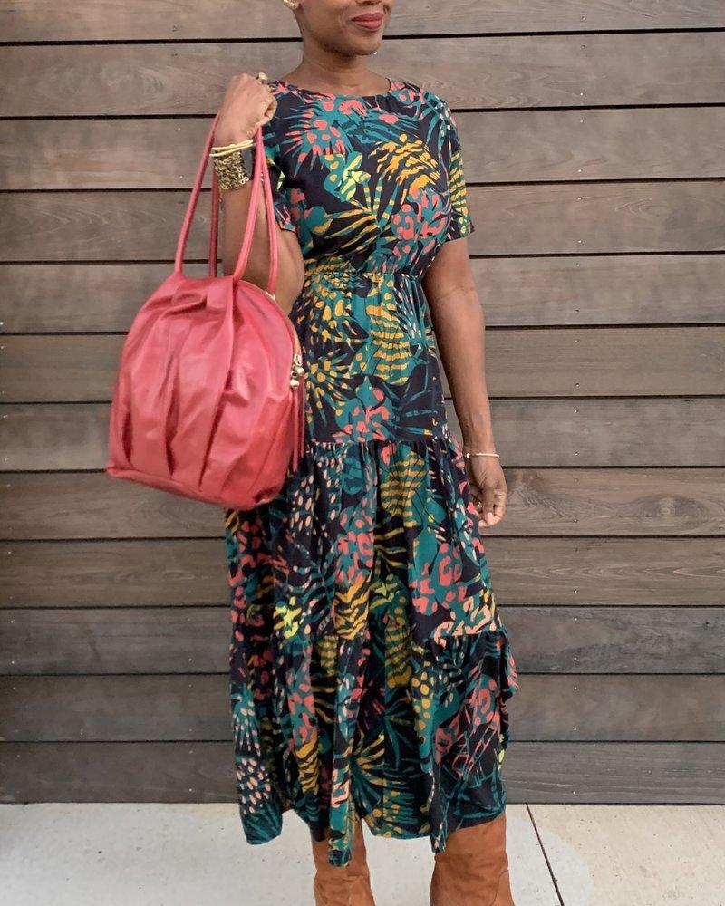 See U Soon See U Soon Jungle Print Maxi Dress