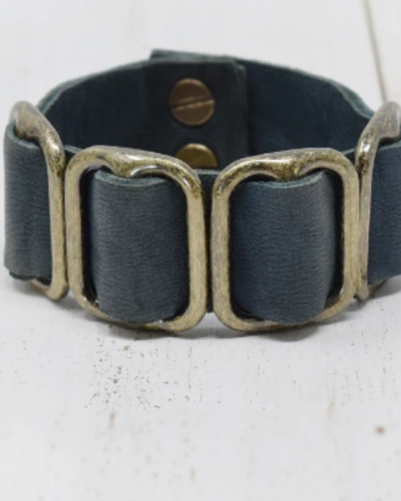 Giving Bracelets Giving Bracelets Fancy Leather Cuff