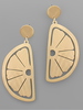 GS Scratch Lemon Earrings