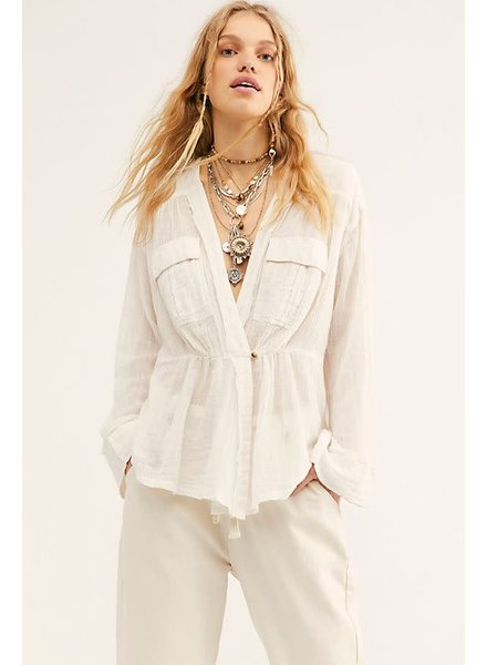 Free People FP Safari Sheer Wrap Top