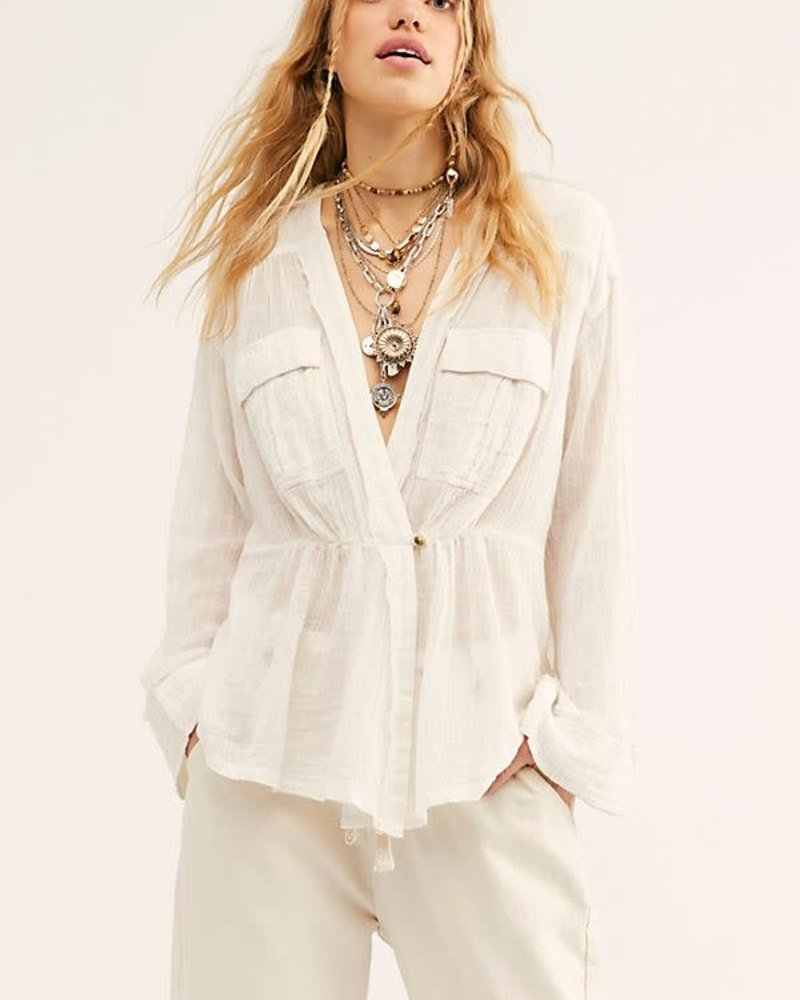 Free People Free People Safari Sheer Wrap Top