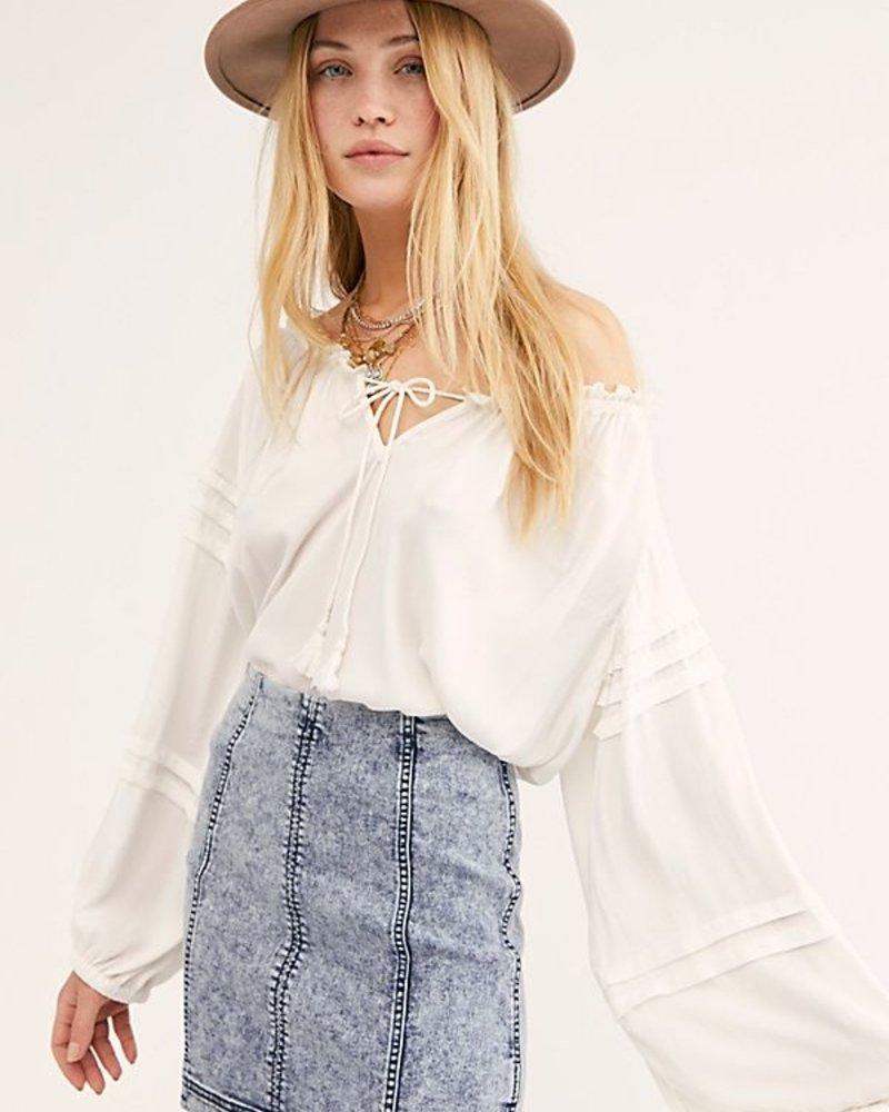 Free People Free People Modern Femme Denim Skirt
